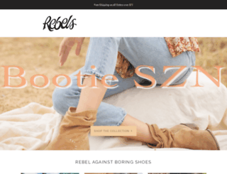 rebelsfootwear.com screenshot