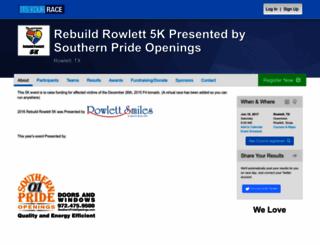 rebuildrowlett5k.itsyourrace.com screenshot
