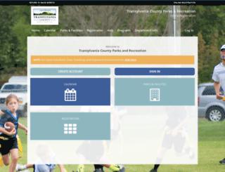 rec.transylvaniacounty.org screenshot