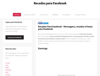 recadofacebook.com.br screenshot