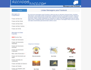 recadosface.com screenshot