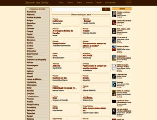 recantodasletras.com.br screenshot