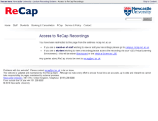 recap.ncl.ac.uk screenshot