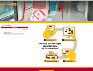 recargas.tussam.es screenshot