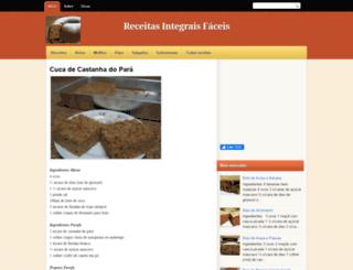 receitasintegraisfaceis.blogspot.com.br screenshot