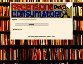 recensionedeiconsumatori.blogspot.ca screenshot