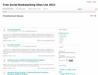 recentbookmarking.info screenshot