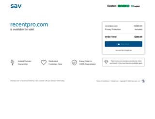 recentpro.com screenshot