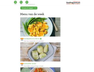 recepten.voedingscentrum.nl screenshot