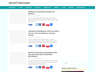 receptibalkana.com screenshot