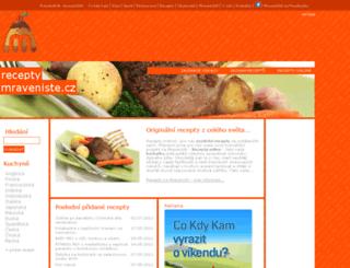 recepty.mraveniste.cz screenshot