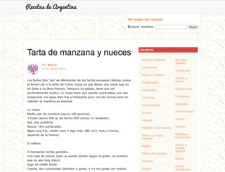 recetasdeargentina.com.ar screenshot