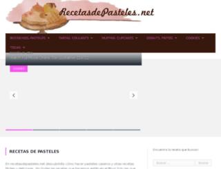 recetasdepasteles.net screenshot