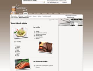 recettes.le-cuisinier.net screenshot