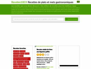 recettes100.fr screenshot