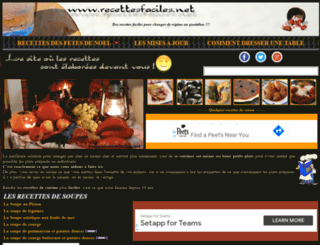 recettesfaciles.net screenshot