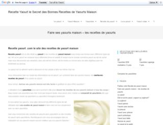 recetteyaourt.com screenshot