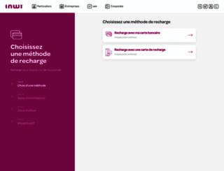 rechargeonline.inwi.ma screenshot