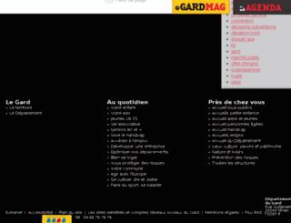 recherche.gard.fr screenshot