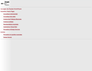 recherche.ircam.fr screenshot