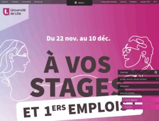recherche.univ-lille3.fr screenshot