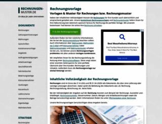 rechnungen-muster.de screenshot