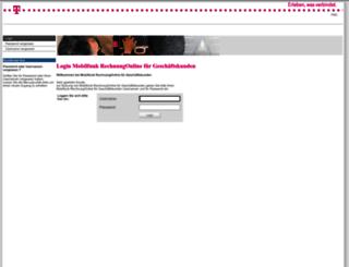 rechnungonline-business.t-mobile.de screenshot