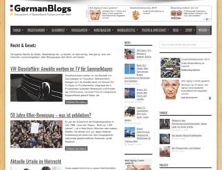 recht.germanblogs.de screenshot