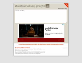 rechtschreibung-pruefen.de screenshot