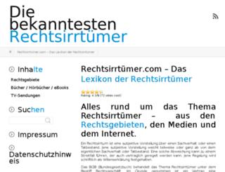 rechtsirrtuemer.com screenshot
