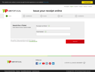 recibos.flytap.com screenshot