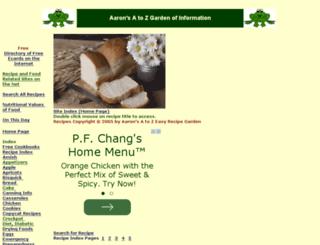 recipe-greeting-cards.com screenshot