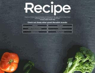 recipe.com screenshot