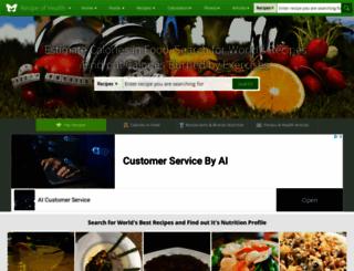 recipeofhealth.com screenshot