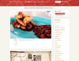 recipepinner.com screenshot