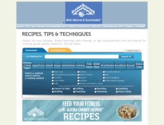recipes.alaskaseafood.org screenshot
