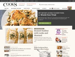 recipes.cooksillustrated.com screenshot