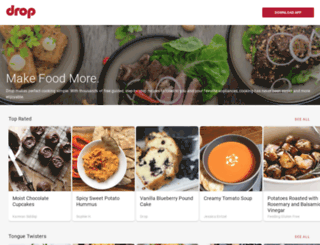 recipes.getdrop.com screenshot