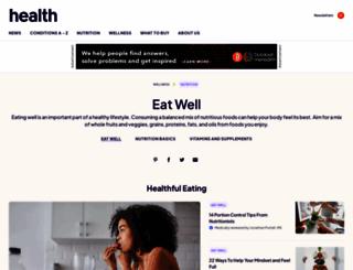 recipes.health.com screenshot