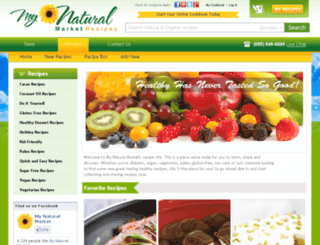 recipes.mynaturalmarket.com screenshot
