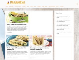 recipesfun.com screenshot