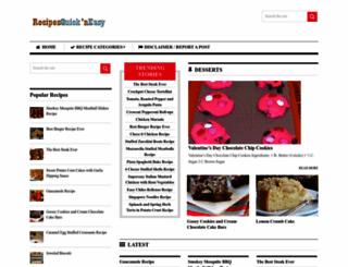 recipesquickneasy.com screenshot