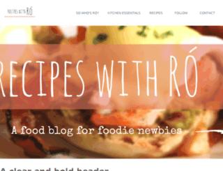 recipeswithro.com screenshot