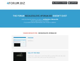 recklesslove.4forum.biz screenshot