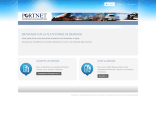 reclamation.portnet.ma screenshot