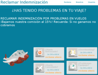 reclamavuelos.com screenshot