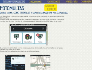 reclamo-fotomultas.org screenshot