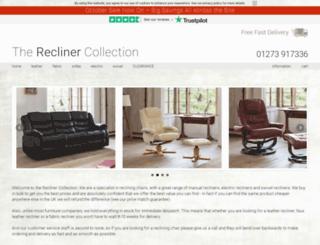 recliner-collection.co.uk screenshot