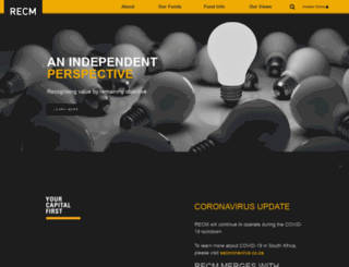 recm.co.za screenshot