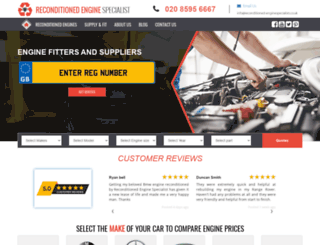 reconditioned-enginespecialists.co.uk screenshot